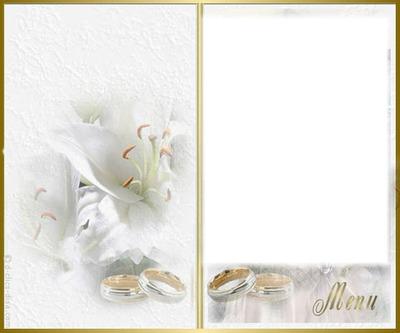 montage photo menu mariage pixiz. Black Bedroom Furniture Sets. Home Design Ideas