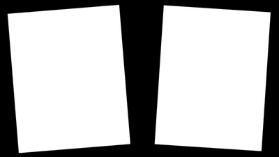 cadre noir 2 photos