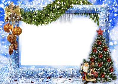 Cadre bleu Noel