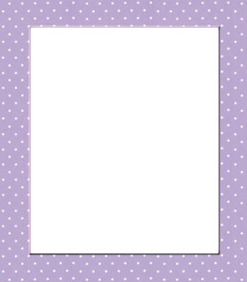 Moldura-Quadro lilás.