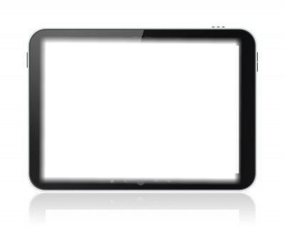 Tablette met ton fond d'ecran car il est tous blanc