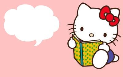 Hello Kitty Book + Bulle Haut Gauche