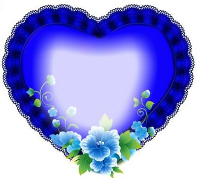 Cc corazón azul