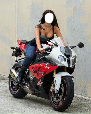fille de moto