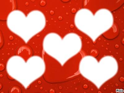 Pêle-mêle coeur rouge