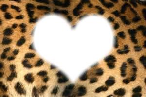 Cœur sur fond panthère