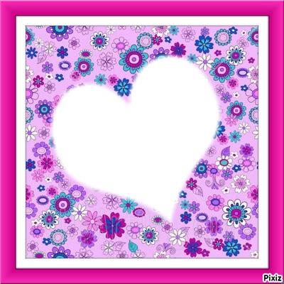 corazon y flores