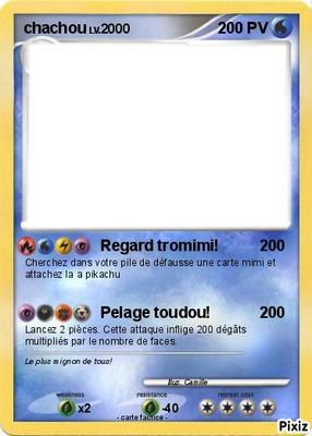 créer une carte pokémon Photo montage carte pokémon   Pixiz