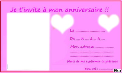 Bien-aimé Photo montage Carte d'invitation anniversaire ado - Pixiz KO61