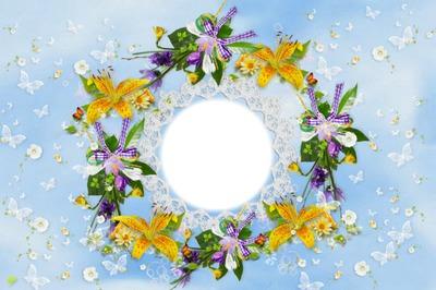 dentelle fleurs & papillons
