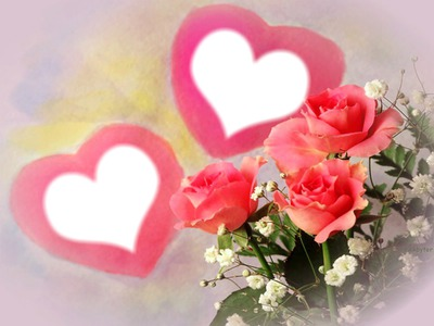 Pink Roses Hearts