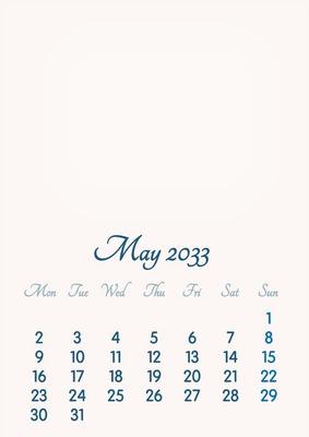 May 2033 // 2019 to 2046 // VIP Calendar // Basic Color // English