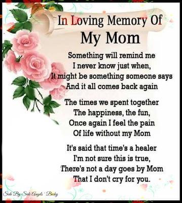 in loving memory my mom