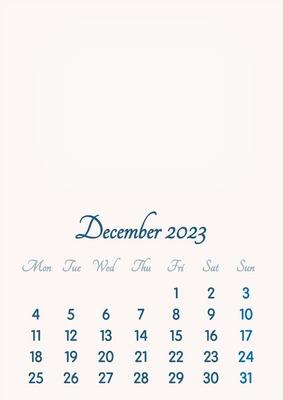 December 2023 // 2019 to 2046 // VIP Calendar // Basic Color // English