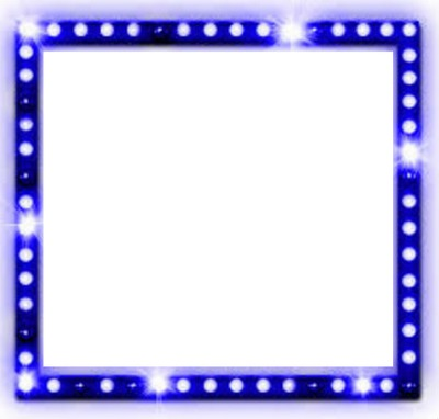 Quadro com Glitter Azul