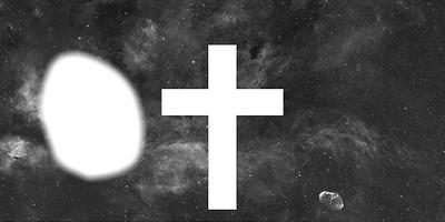 Croix swag sur fond étoilée