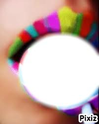 bouche colorée