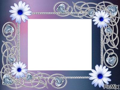 Photo montage cadre fleurs - Pixiz