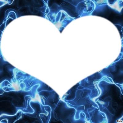 coeur au flamme bleu