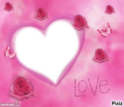 coeur de roses 1 photo