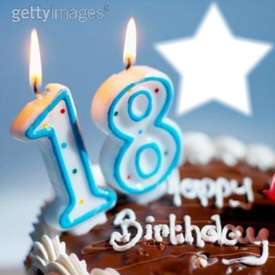 montage photo joyeux anniversaire 18 ans - pixiz