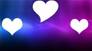 coeur sur fond violet bleue