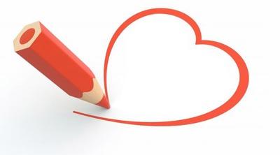 Mon dessin d'un coeur