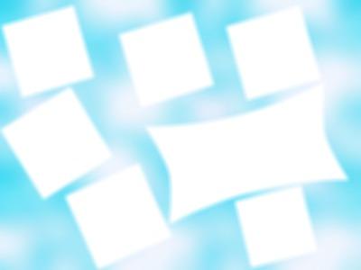 7 cadre avec fond bleu
