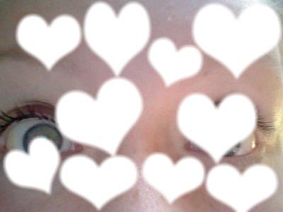 dix places images en forme de coeur , pour une petite image, fond (mes yeux) !