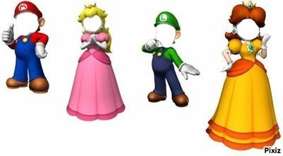 Mario Luigi Peach Daisy