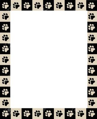 Empreinte Patte De Chien photo montage cadre avec empreintes de pattes de chien 1 photo - pixiz