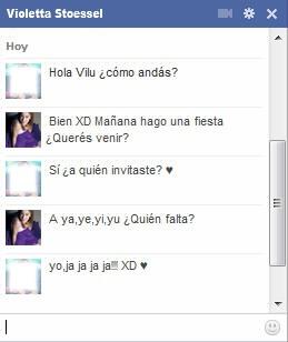 Chat falso con Violetta