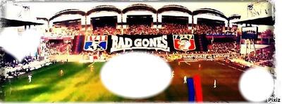 foot Tifo Bad Gones à Gerland le 2 mars 2014