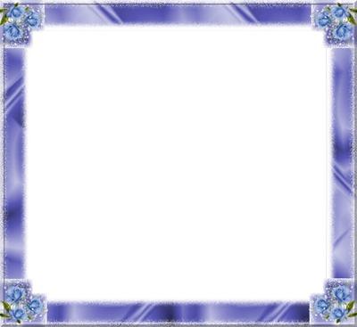cadre bleu et rose bleu