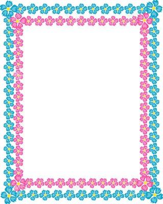 cadre bleu et rose à fleurs 1 photo