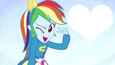 Montase Foto My Little Pony Rainbow Dash Pixiz