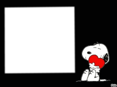 Montaje fotografico Snoopy Love - Pixiz