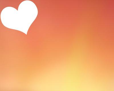 Coeur sur fond orange