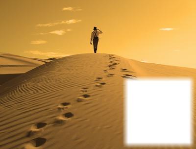 Marcher dans le désert - pas dans le sable