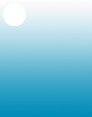 rond sur dégradé bleu clair ♡