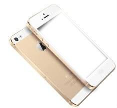 Um  iphone dourado