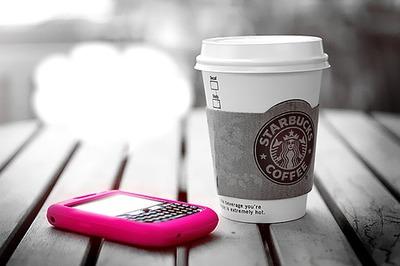 Black-Berry/Starbucks coffee
