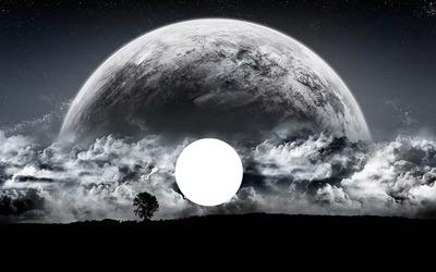 Visage de lune