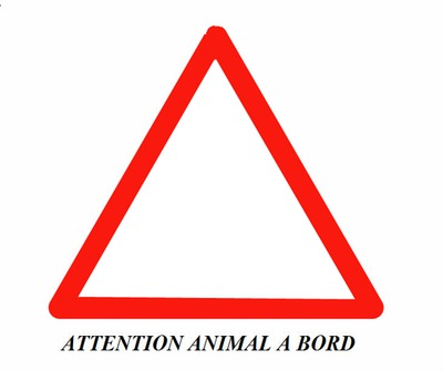 ATTENTION ANIMAL A BORD