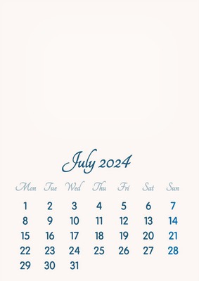 July 2024 // 2019 to 2046 // VIP Calendar // Basic Color // English