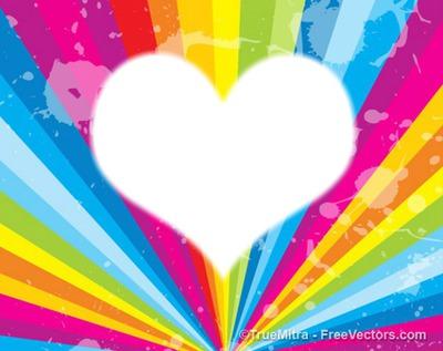 multicolore coeur