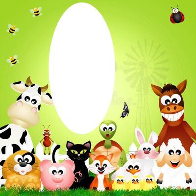 1 photo animaux de la ferme