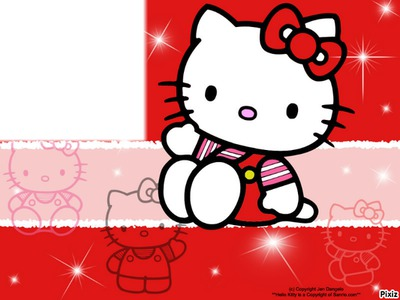 Photo Montage Cadre Hello Kitty Bb Pixiz