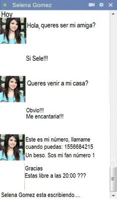 Chat de Selena Gómez