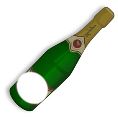 Bouteille De Champagne Dessin photo montage bouteille de champagne - pixiz
